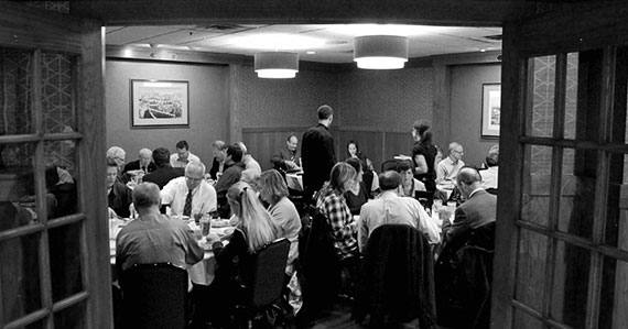 Jensen's Food and Cocktails banquet room