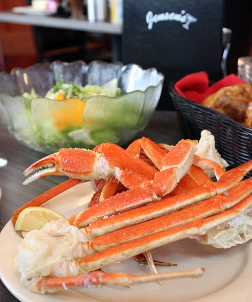 Jensen's Food and Cocktails crab legs